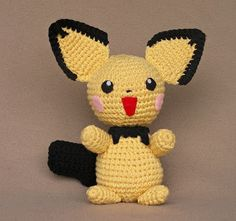 Pichu plush pattern.  Other Pokemon also available.