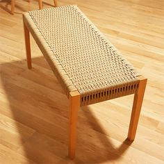 HOME-DZINE - Weave with Danish cord - Using Danish cord, sisal or coir rope is an excellent way to finish off a heirloom bench and you can apply this weaving method to finish off a chair seat, stool or any type of bench.