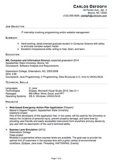 Computer Science Student Resume Computer Science Student Resume Sample  Resume Template
