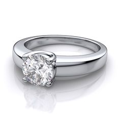 the u shape prongs allow your diamond to sit snugly in the setting visit our website to select your diamond and metal - Build Your Own Wedding Ring
