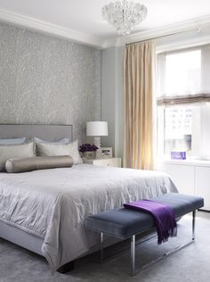 Master Bedroom in Park Avenue Combination in New York City | Designed by Pier, Fine Associates | To explore more of our projects and designs, visit www.pierfine.com
