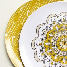 Olive Manna Melamine Plates