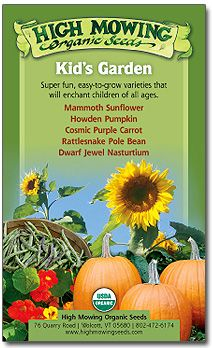 Kid's Garden Organic Seed Collection