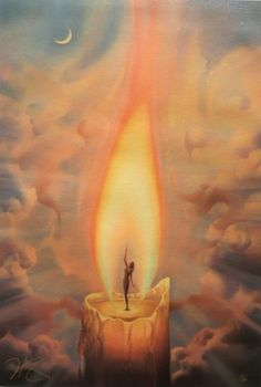 Vladimir Kush candle painting for sale - Vladimir Kush candle is handmade art reproduction; You can shop Vladimir Kush candle painting on canvas or frame. Vladimir Kush, Art Du Monde, Prophetic Art, Visionary Art, Surreal Art, Surreal Tattoo, Magick, Fantasy Art, Art Drawings