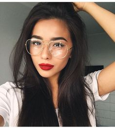 Buy Hair Extensions & Clip in Hair Extensions online from Market Hair Extension USA, America's most trusted hair extensions online store since Glasses Outfit, New Glasses, Wearing Glasses, Girls With Glasses, Buy Hair Extensions, Piercing, Hipster Glasses, Aviator Glasses, Girly Pictures