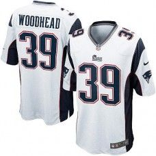 Men's White NIKE Game    New England Patriots #39 Danny Woodhead   NFL Jersey