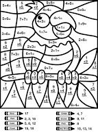 Other Graphical Works: Mystery Math Picture for Children's to Answer, Guess and Color