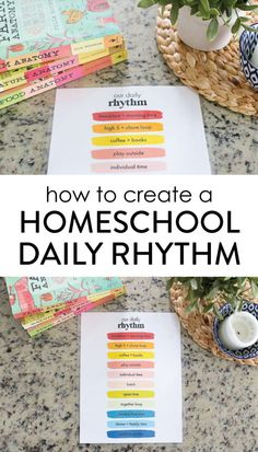 How to Create a Sustainable Homeschool Rhythm - The Littles & Me