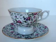 Vintage, Lefton Musical Tea Cup and Saucer. $18.00, via Etsy.