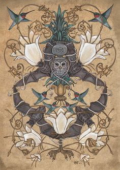 Night and Day  11 x 14 Print by swanbones on Etsy, $32.00 / SWANBONES Kelly Louise Judd