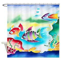 Tropical Fish Shower Curtain on CafePress.com