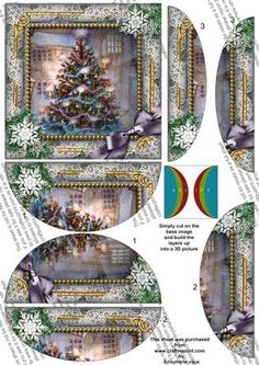How my Tree Looks Snow 5inch Side by Side Rounded Stacker on Craftsuprint designed by Ann-marie Vaux - I have designed this sheet as a side stacker, it is sized at 5inch square and has a base image and layers to use on top, use your 3D foam or silicone glue to build up the design for your card. - Now available for download!