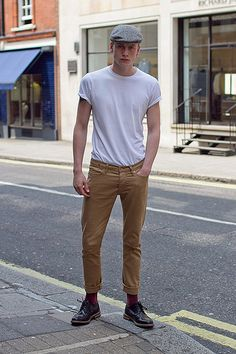 simple clean look white t shirt hat great shoes fashion men tumblr style streetstyle pants