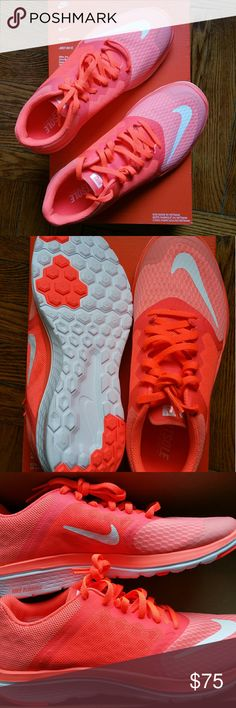 New Nike running shoes 6.5 Coral/ White New never worn Nike FS Lite Run 3 Size 6 1/2 Color: Coral Attention: shoes are new in box, but I'll ship without the box. Nike Shoes Athletic Shoes