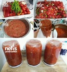 How to Make Crushed Recipe for Winter? In the book of people . How To Make Sauce, Turkish Recipes, Homemade Beauty Products, Winter Food, Salad Recipes, Bbq, Pasta, Cooking, Easy Bread
