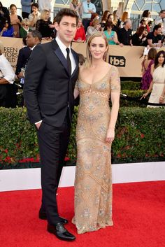 Emily Blunt and John Krasinski Red Carpet Style | POPSUGAR Fashion  Sag Awards