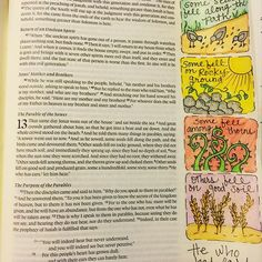 The parable of the sower #Matthew13 #biblejournaling #biblejournalingcommunity