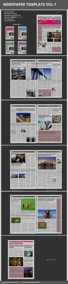 A3 Newspaper Template Print Templates Newspaper And Template