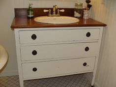 How-To: Dresser to Vanity - An Oregon Cottage | An Oregon Cottage