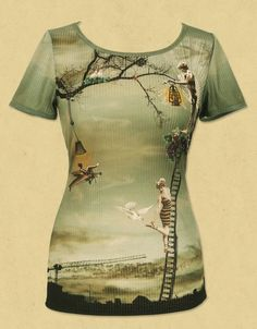 Gorgeous quirky shirt by Michal Negrin - oodles of vintage style