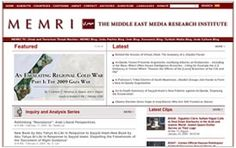 Middle East Media Research Institute (MEMRI) explores Middle East& South Asia through their media. MEMRI bridges the language gap between West, Middle East & South Asia, providing translations of Arabic, Farsi, Urdu-Pashtu& Dari media& analysis of political,ideological,intellectual, social, cultural,religious trends. MEMRI is an independent, nonpartisan, nonprofit organization.  MEMRI research is translated into English, French, Polish, Japanese& Hebrew.