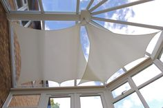 Unlike traditional blinds our sails can be styles to match your conservatory. Conservatory Ideas Cosy, Conservatory Roof Blinds, Conservatory Design, Conservatory Garden, Roof Lantern, Country House Design, Outdoor Shade, Reception Rooms, Valance Curtains