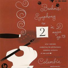 1948 Brahms - Symphony no. 2 in D Major op. 73 [Columbia Masterworks catalogue no. MM-725] signed Steinweiss