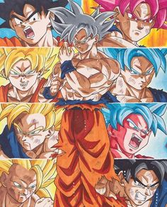 Legacy of Son Goku 🔥😂Lmao I wanna know what everyone's favourite form i. Dragon Ball Gt, Dragon Ball Image, Dragon Z, Mega Anime, Super Anime, Goku All Transformations, Goku All Forms, Cool Dragons, Fanarts Anime