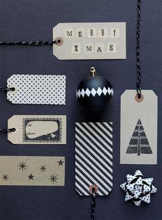 Stamped Christmas gift tags. #Christmasideas #ChristmasDIY