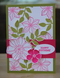 Julie Kettlewell - Stampin Up UK Independent Demonstrator - Order products 24/7: Secret Garden projects