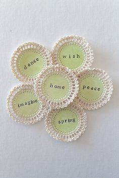 SPRING Crochet Scrapbooking Embellishments
