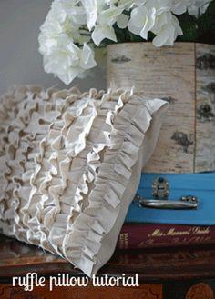 ruffle pillow tutorial