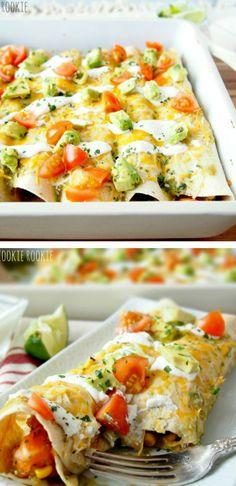 Chicken and sweet potato enchiladas