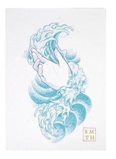 Wave hand tattoo BMTH
