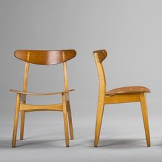 Hans J. Wegner; #CH-30 Teak and Beech Dining Chairs for Carl Hansen & Søn, 1950s.
