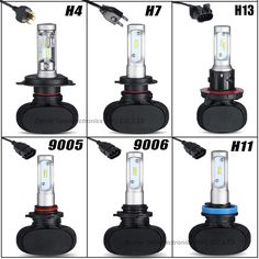 2Piece/Lot Free Shipping Car LED Headlights H7 H4 H11/H8/H9 HB3/9005 HB4/9006 Headlight 4000LM Super Power Replacement LED Bulb