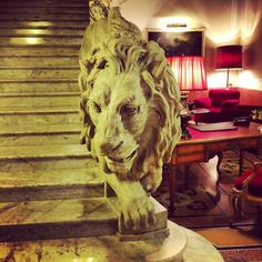 Carved as part of the main staircase, this life size marble lion gives you goosebumps. It is so life-like and oozes both feline grace and danger.