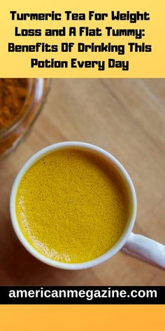 Turmeric Tea For Weight Loss and A Flat Tummy: Ben -You can find Turmeric and more on our website.Turmeric Tea For Weight Loss and A Flat Tummy: Ben - Full Body Detox, Detox Your Body, Best Diet Drinks, Healthy Drinks, Healthy Foods, Natural Detox Drinks, Turmeric Tea, Turmeric Health, Homemade Detox