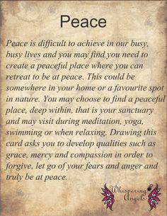 Peace http://www.whisperingangels.co.za