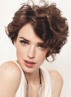 15 Latest Short Curly Hairstyles for Oval Faces | http://www.short-haircut.com/15-latest-short-curly-hairstyles-for-oval-faces.html