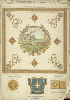 Pièces d'uniformes de la 1° Compagnie de Mousquetaires de la Garde royale - 1820 -