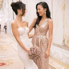 Beautiful bridesmaid dress. Beautiful picture with bride