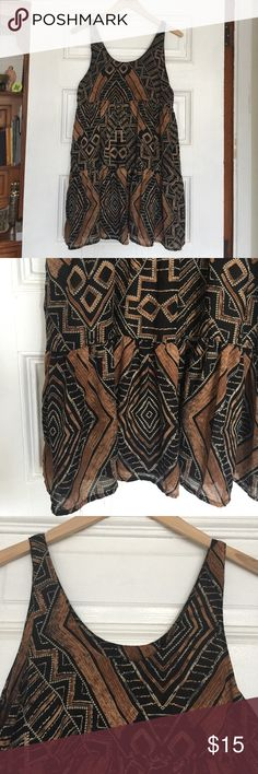 Tribal print tunic/mini dress Tribal print tunic/mini dress with cute ruffled bottom. audrey Dresses Mini