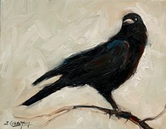 Expressionist Crow – Painting Lesson by Tim Gagnon Studio. Crow Art, Raven Art, Bird Art, Crow Painting, Acrylic Painting Lessons, Painting & Drawing, Crows Drawing, Crows Ravens, Art Graphique