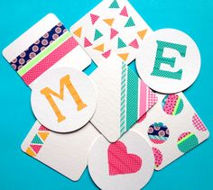 Washi tape coasters- 75  Gift Ideas for Under $2
