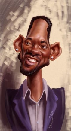Caricature: Will Smith by Bogdan Covaciu. Funny celebrity caricatures