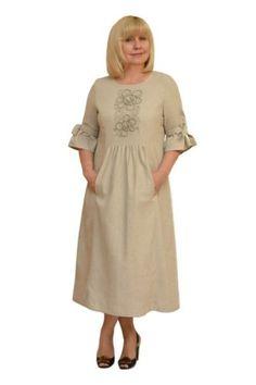 Платье с вышивкой  - Модель Л363-1