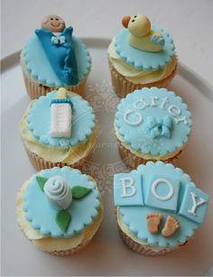 Baby Boy Cupcakes Www.ladyberrycupcakes.co.uk