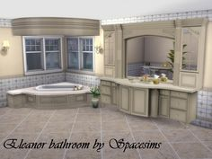Sims 4 CC's - The Best: Eleanor bathroom by Spacesims