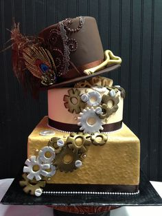 Steampunk cake: a good way to kick off any celebration.